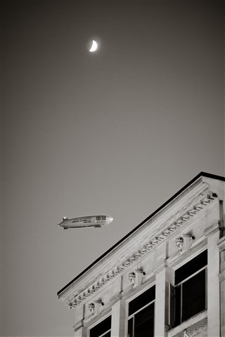 Airship over San Francisco