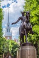 Paul Revere statue in front of The Old North Church; Boston, Massachusettes