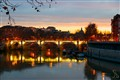 Rome Sunset Over Tevere River