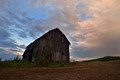 Barn and approaching rainstorm
