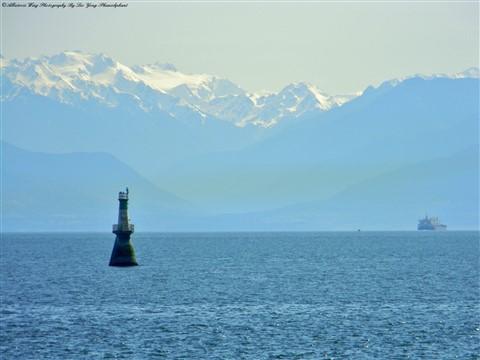 The Olympic Mountains Across The Juan De Fuca Strait