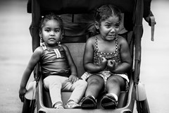 girls in stroller