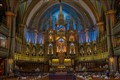 Cathedral of Montreal (Canada).