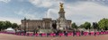 Stitched panorama of Buckingham Palace and the Victoria Memorial