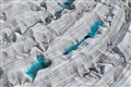 Ice structures and meltponds on Root Glacier, Alaska