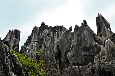 Sharp rocks at Kunming