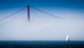 Golden Gate Bridge with Sailboat