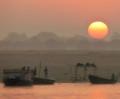 Sunrise. Ganges River