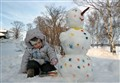 Painter and snowman