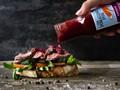Flank steak sandwich
