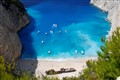 Navagio beach in Zakymthos Greece