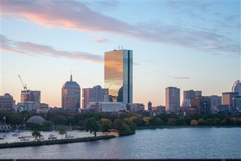 Boston Skyline Sunrise