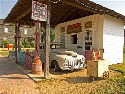 gas station color