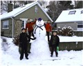 snowman and 4 boys small