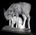 Ice sculpture carved for the Denver Zoo Lights exhibit.