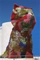 Flowery Dog Statue