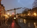 A wet bridge in Dordrecht after subdown