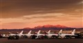 Thunderbirds at Nellis Sunset