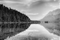 Alps Lake bw