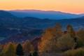 Bieszczady Mountains, sunset