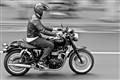 B&W motorbike