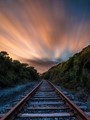Sundown on the Rails