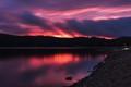 A Fiery Pinkish-Purplish Sunset
