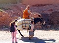 Going to school in Ouzazarte, Morocco