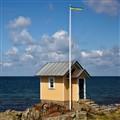 Small yellow hut