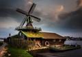 Small windmill at the Zaanse Schans, The Netherlands: Het Klaverblad