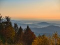 Evening view in the blackforest from Mt. Kandel