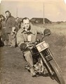 My grandad competing in a scramble race sometime in the 1950's taken by my grandmother. My grandad was a despatch rider during the war.