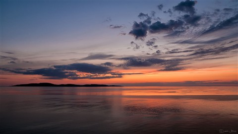 Sunset over Gogland Island, Baltic Sea