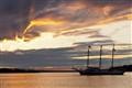 Evening at anchor