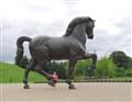 Leonardo Da Vinci's horse sculpture