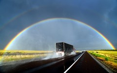 Rainbow and Truck