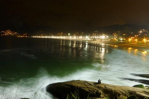 Ipanema (Rio de Janeiro) at night