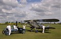 Aircraft Mechanics starting Hawker Hind using a Hucks Starter