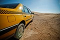 Taxi in desert