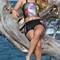 Nathalie Zach for Designer Olga Papkovitch couture swimwear shot in Aruba by Tony Filson of KissMyKite