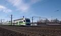 Train leaving Helsinki