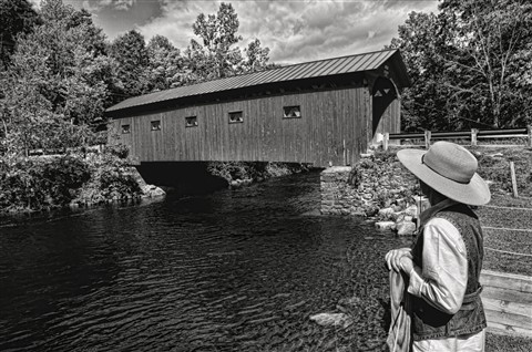 Covered Bridge, Amish Girl TBW sm