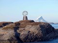 Passing the Arctic Circle marker on Norway's west coast.
