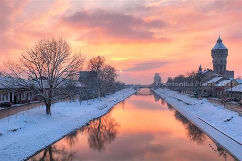 Bega Canal at sunset