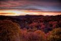 Sunset along Blue Ridge Parkway