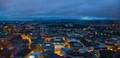 Night view from Radisson skyscraper