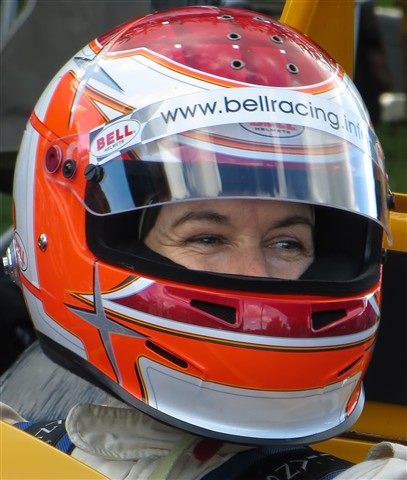 Partly hidden face - Lady Racing Driver