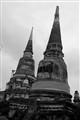 Temple Ruins at Ayuthaya Thailand