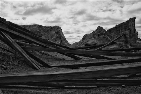 Ruined Sulphur mine, White Island marine volcano, NZ