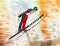 Soaring Ski Jumper